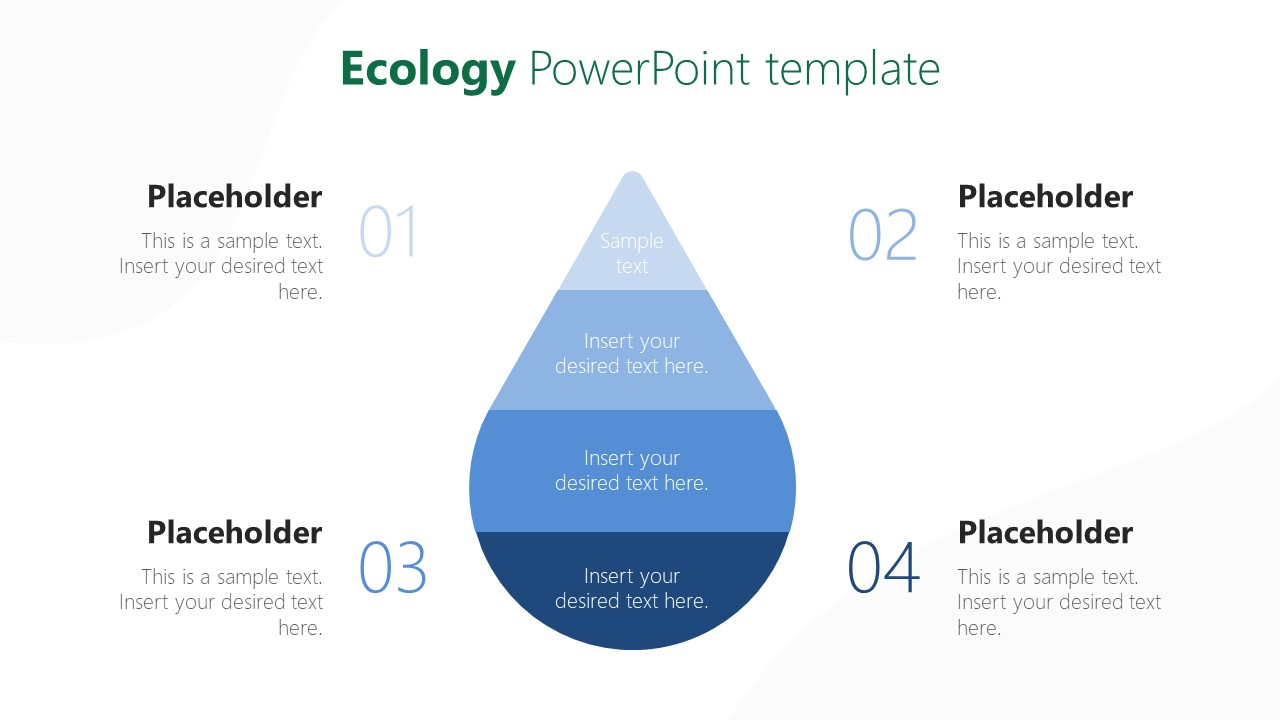 PowerPoint Water Conservation Diagram