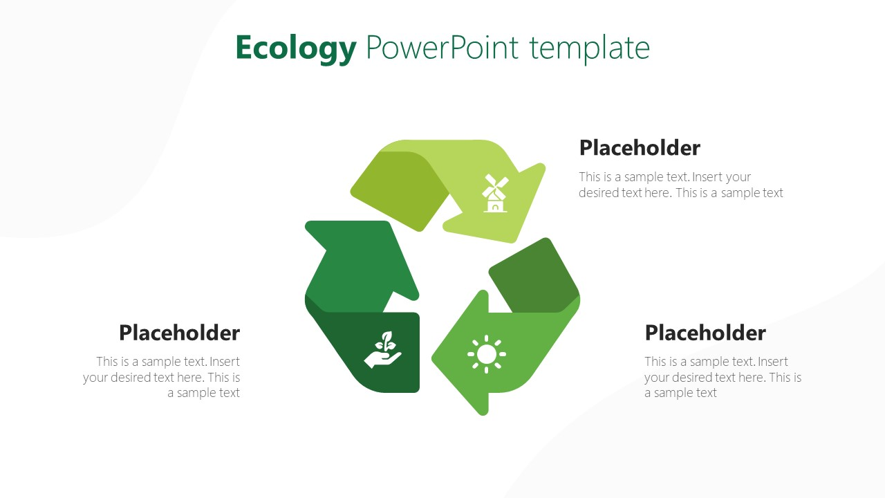 Green Cycle Diagram of Ecosystem PPT