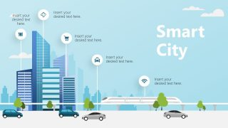 PowerPoint Shapes of Building for Smart City