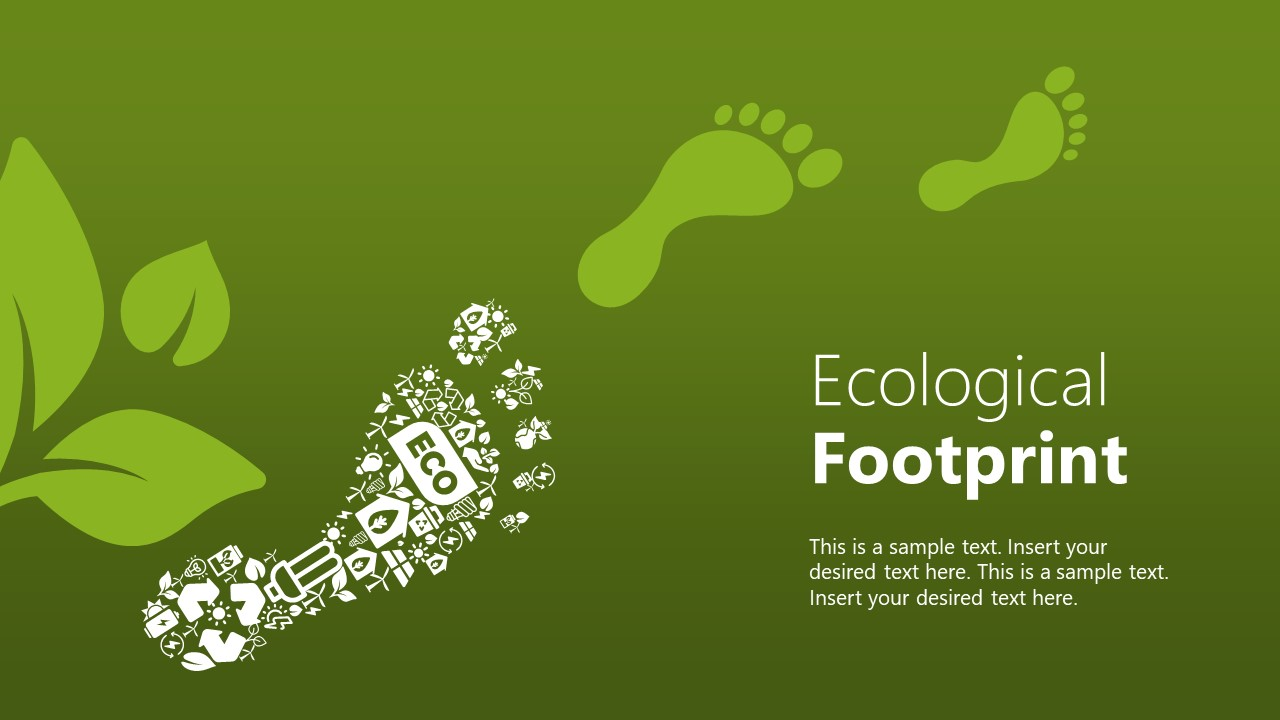 Templates of Ecological Footprint Collage