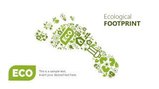 Useful Icons of Ecological Footprint Shape