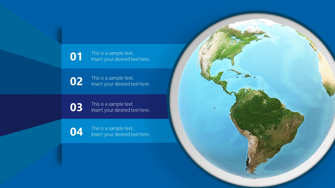 Editable PowerPoint 3D Object of World