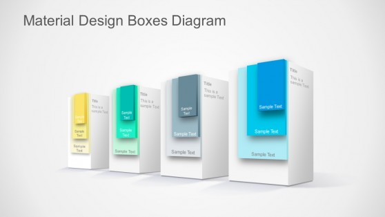 Layered Boxes Google Material Design