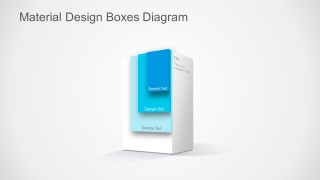 PPT Template layered Material Design Box