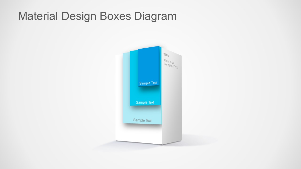 Material design boxes for powerpoint slidemodel ppt template layered material design box toneelgroepblik Gallery