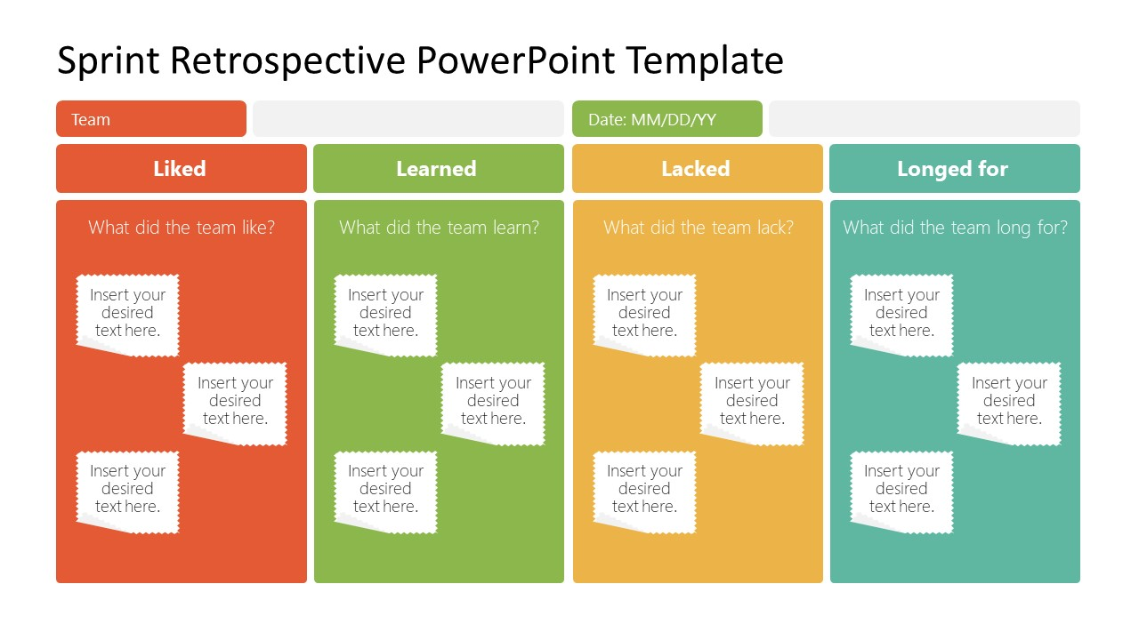 Scrum Sprint Retrospective PowerPoint
