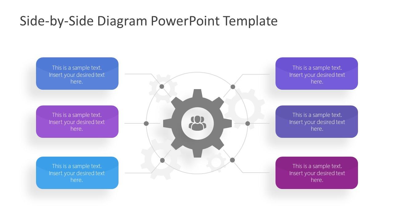 6 Steps PowerPoint Diagram of Core Element