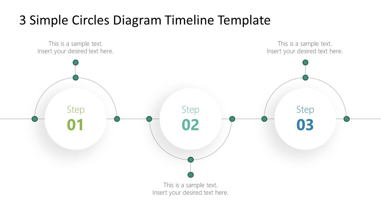 Presentation of 3 Steps Timeline and Planning PPT