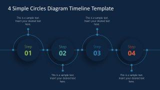 Presentation fo 4 Steps Timeline Diagram