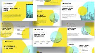Presentation Slide Deck of Yellow Theme