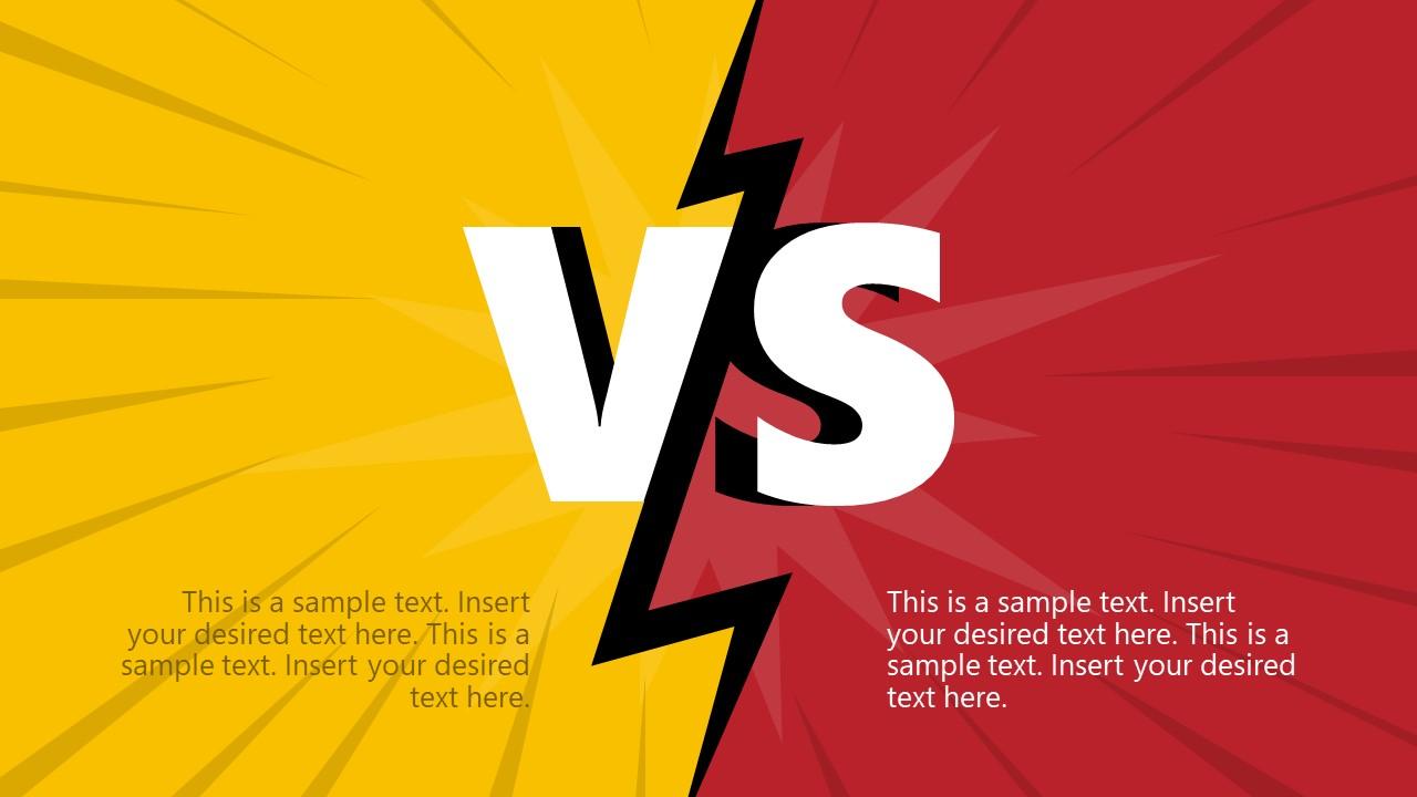 A vs B PowerPoint Comparison