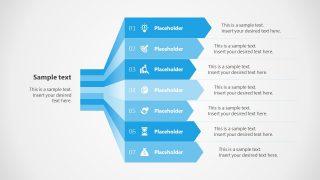 PowerPoint 7 Steps Vertical Diagram