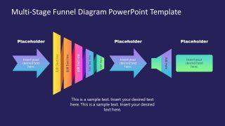 Template of Horizontal Funnel Diagram