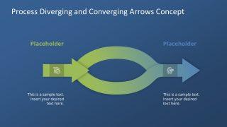 PPT Convergent Divergent Arrows Template