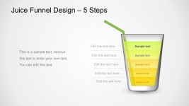 5 Steps Process Funnel PowerPoint Templates