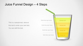 4 Steps Process Juice Funnel Analysis PowerPoint Templates