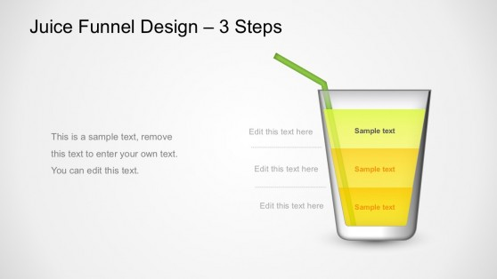 3 Steps Glass Funnel Shape PowerPoint Templates