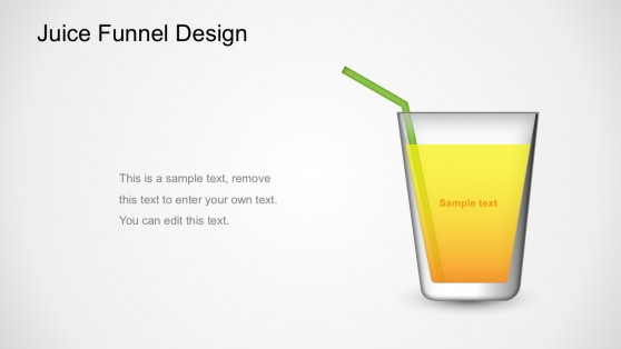 Juice Funnel Graphic Business Diagrams For PowerPoint