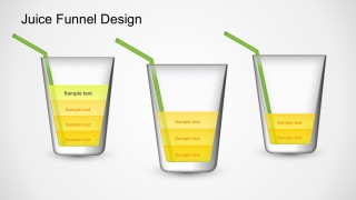 PowerPoint Shape Juice Funnel Sales Diagram Templates