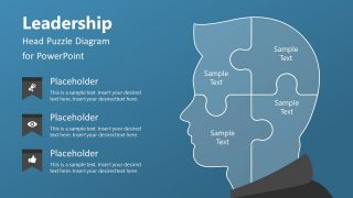 4 Steps Leadership Puzzle Diagram