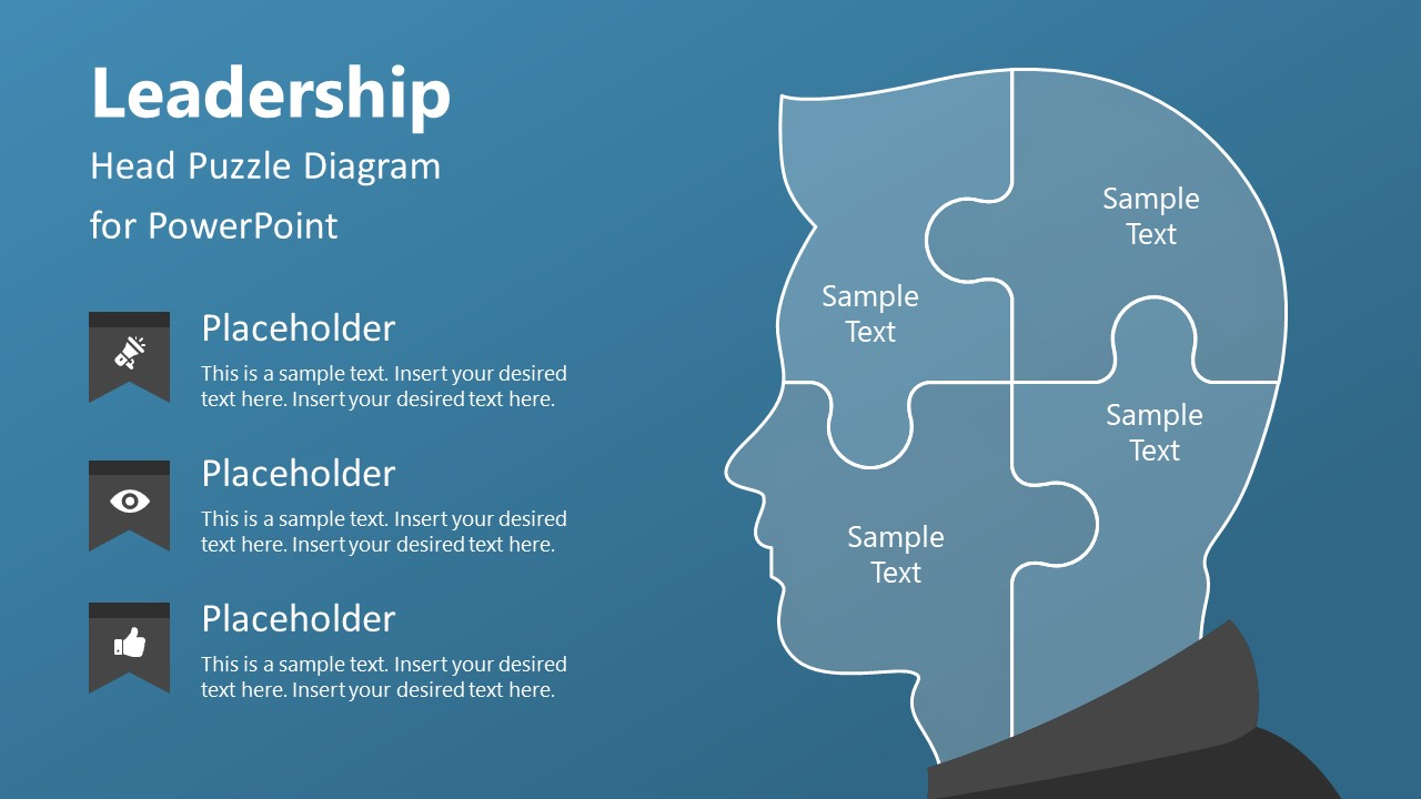 4 Steps Leadership Puzzle Diagram
