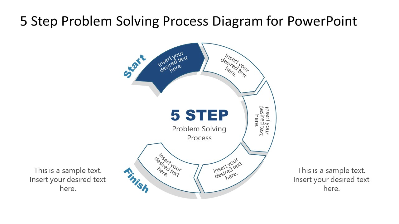 PowerPoint Diagram of Problem Solving Process Step 1