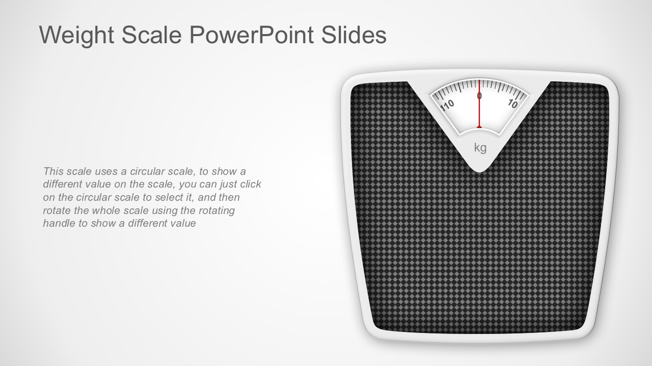 Weighing Scale Vectors for PowerPoint