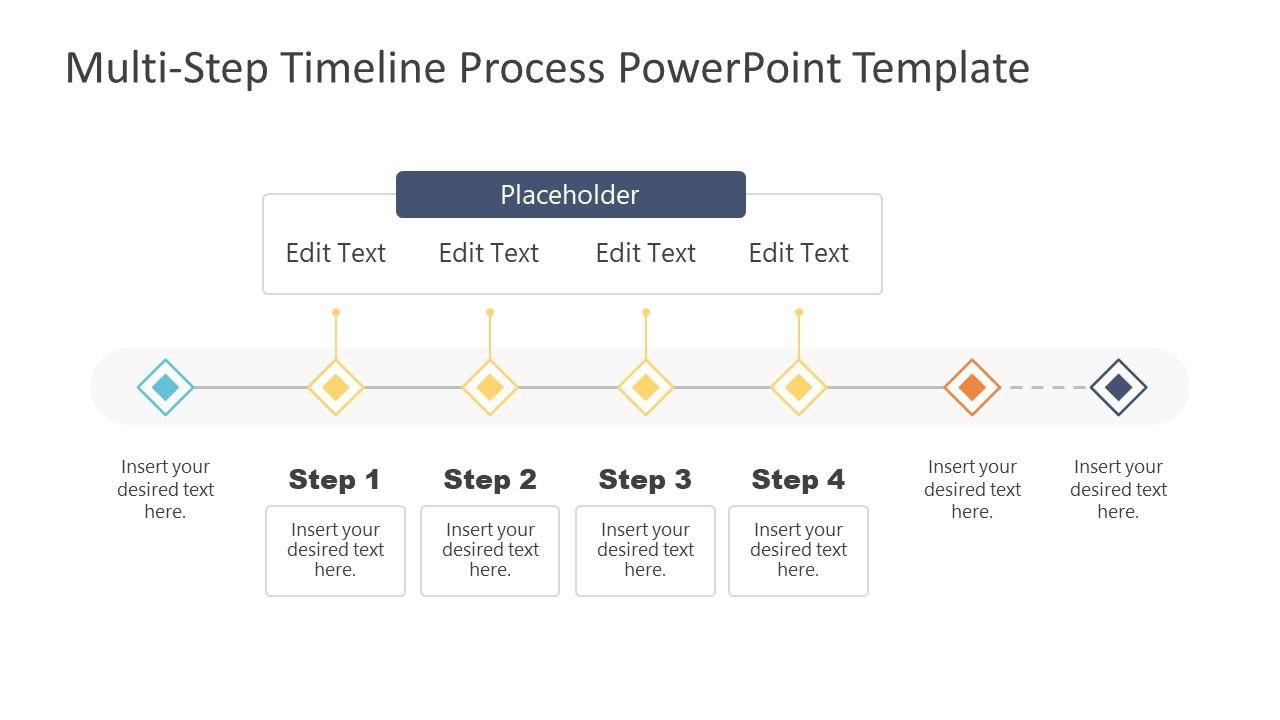 4 Steps Group Timeline Template Design