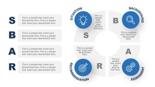 PowerPoint Circular Diagram of SBAR Model