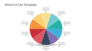 Editable Wheel of Life Template in PowerPoint