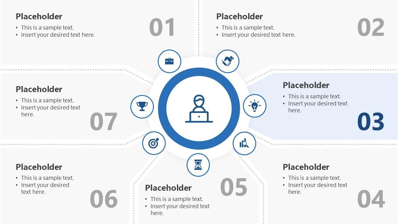 7 Segments Step 3 PowerPoint Diagram