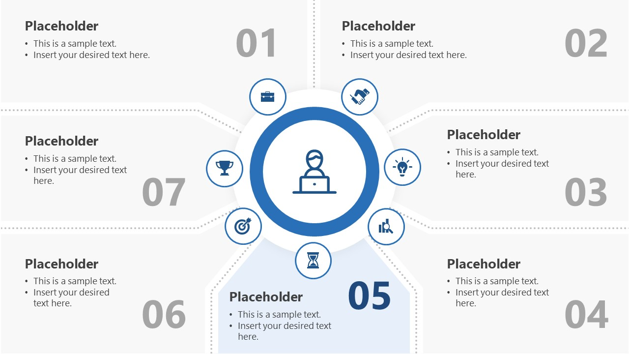 7 Segments Step 5 PowerPoint Diagram