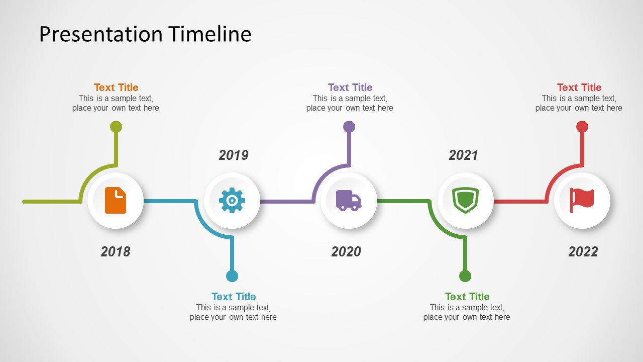 Powerpoint template of timeline concept slidemodel for Ms powerpoint timeline template