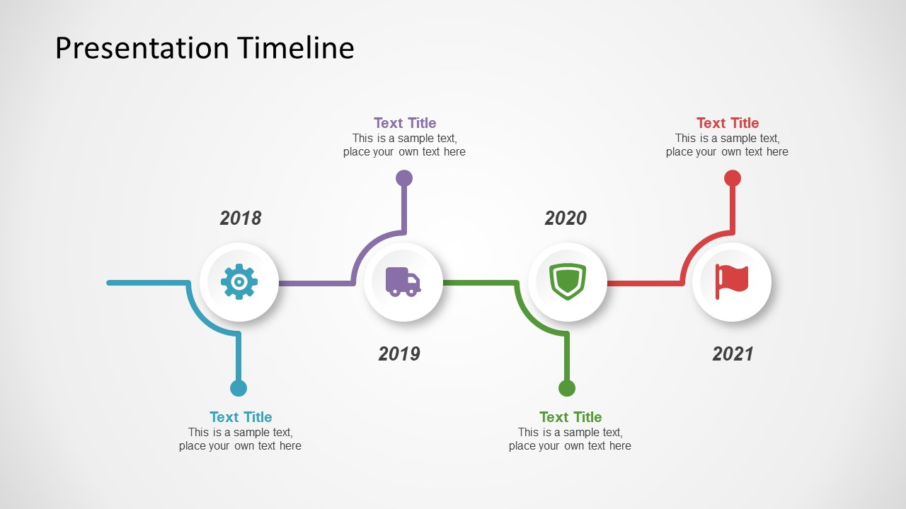 editable ppt horizontal timeline