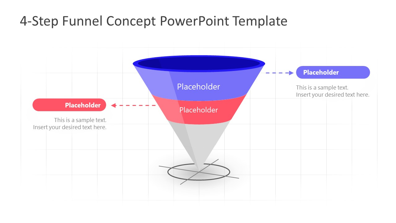 PowerPoint Funnel Diagram Stage 2