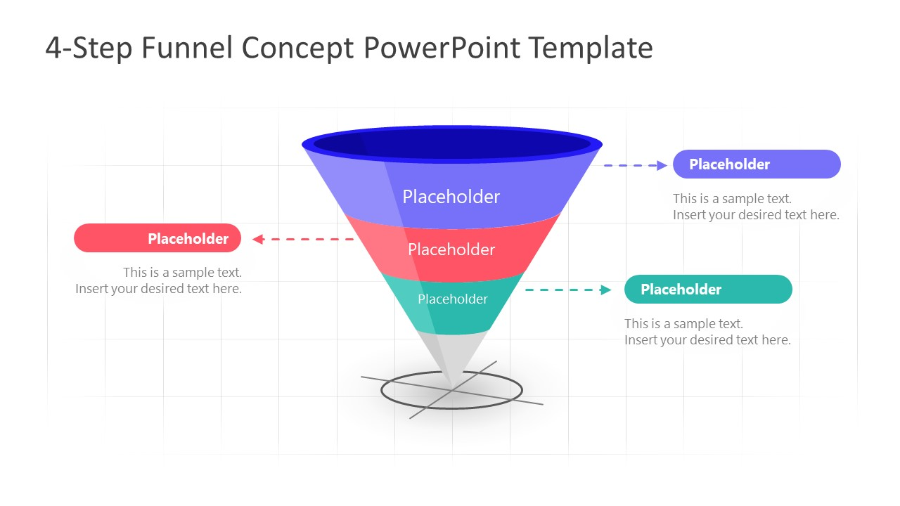 PowerPoint Funnel Diagram Stage 3