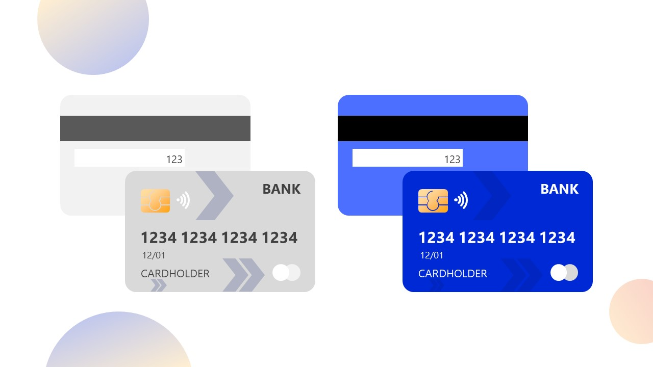 Editable PowerPoint Shapes for Credit Cards
