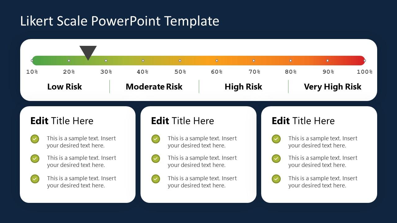 PowerPoint Risk Level Survey Template