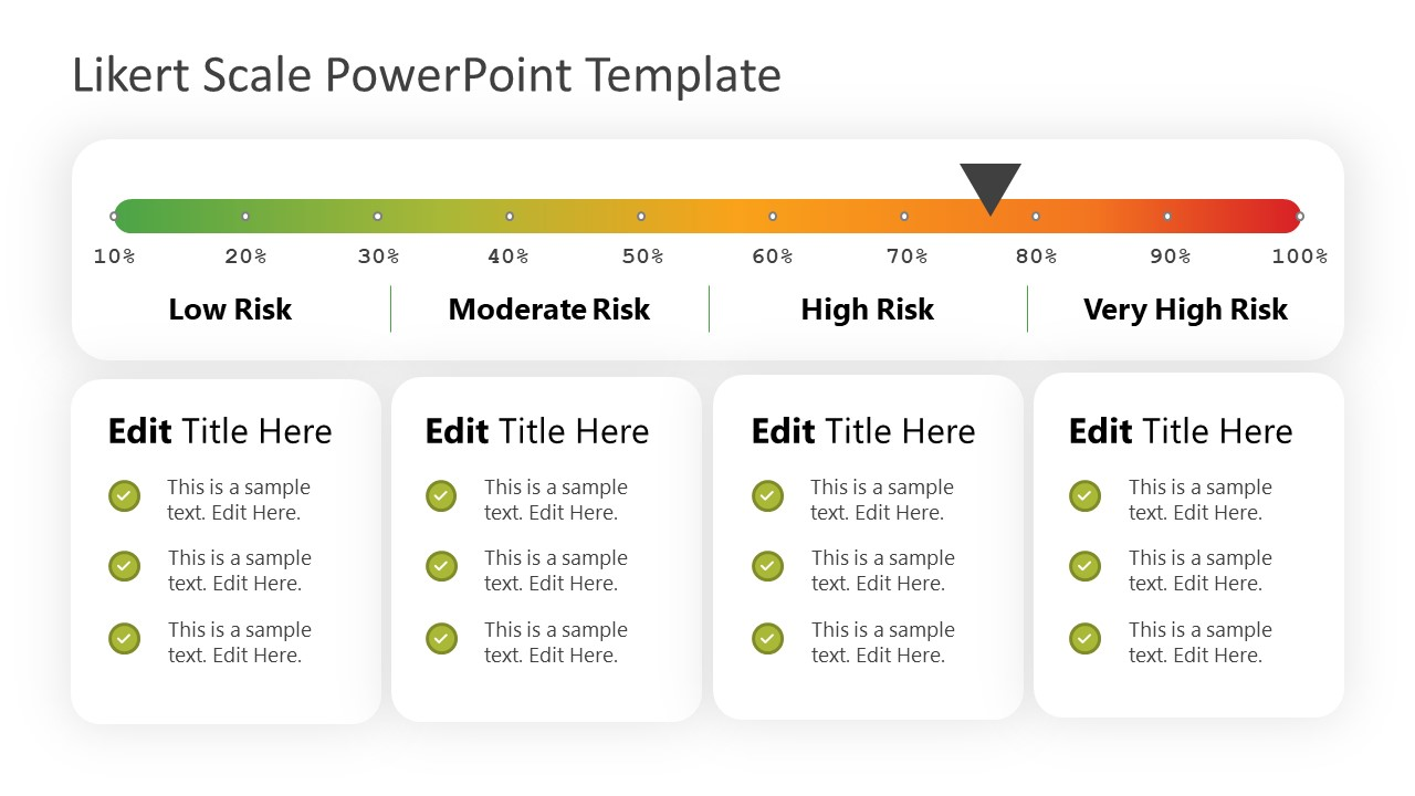 Risk Template of Likert Scale PPT