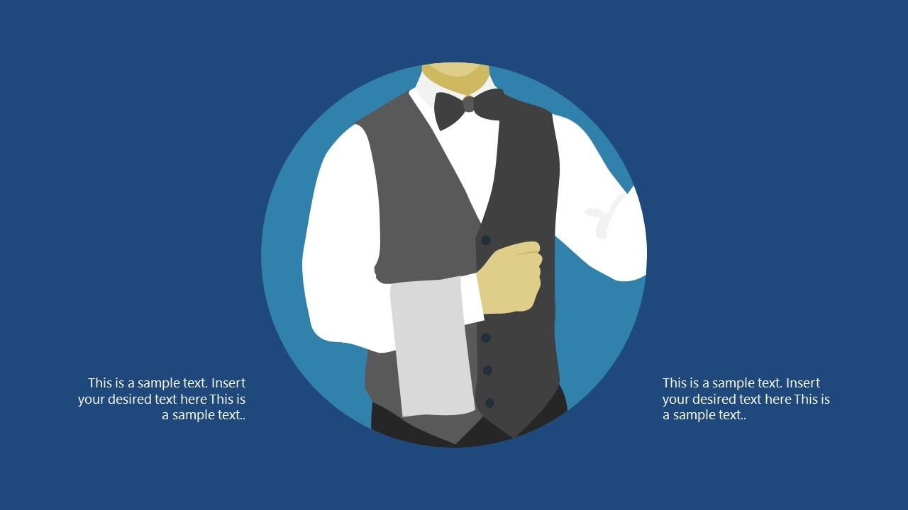 Flat Shapes Scene Illustration for Butlers