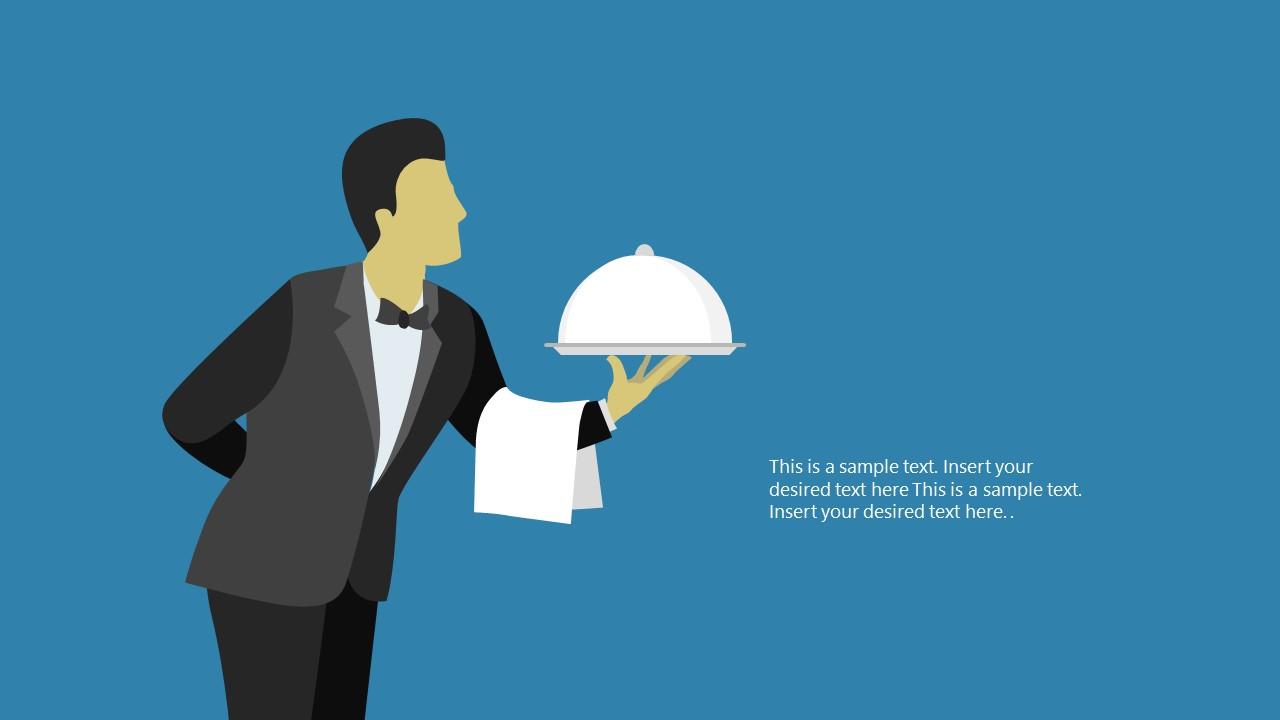 PowerPoint Butler Shapes Scene PPT