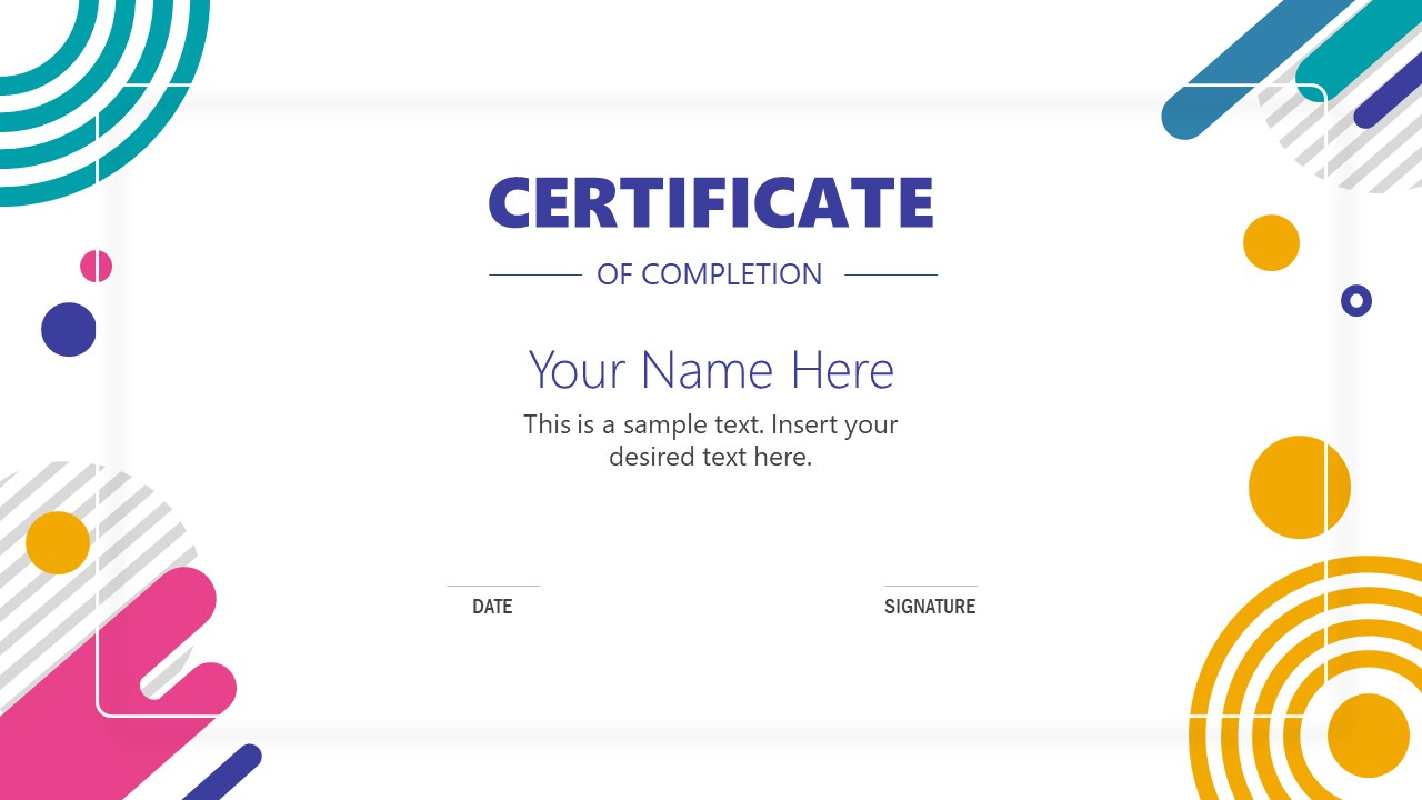 PowerPoint Award Template of Certificate