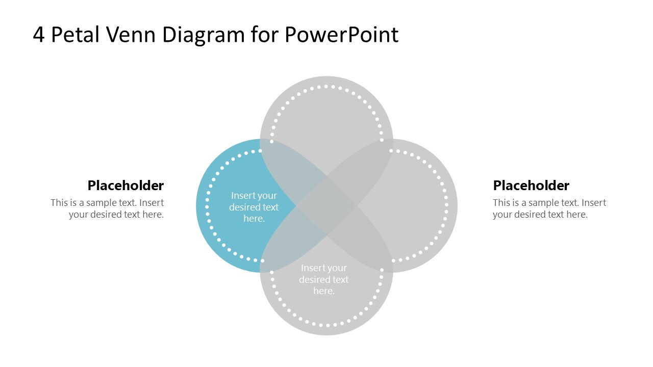 PowerPoint Petals Step 4 Venn Diagram