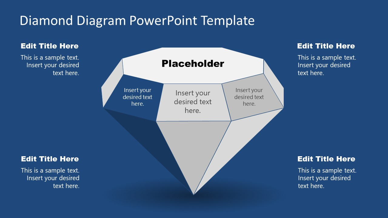 Solitaire Diamond Diagram PowerPoint