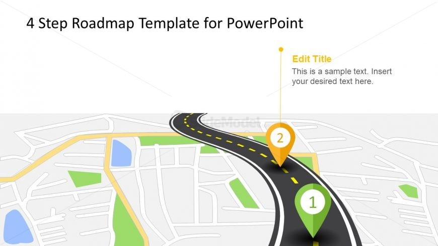 GPS Location Map PowerPoint