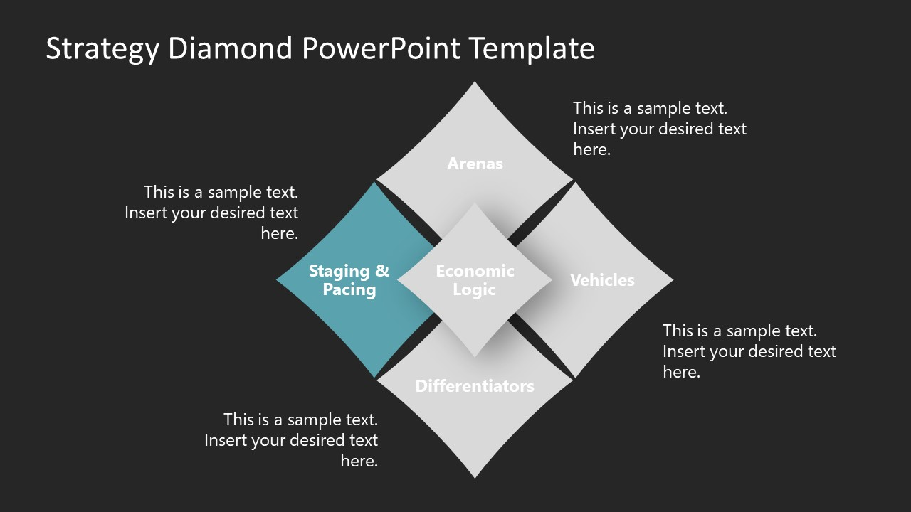 PowerPoint Strategy Diamond Concept Staging