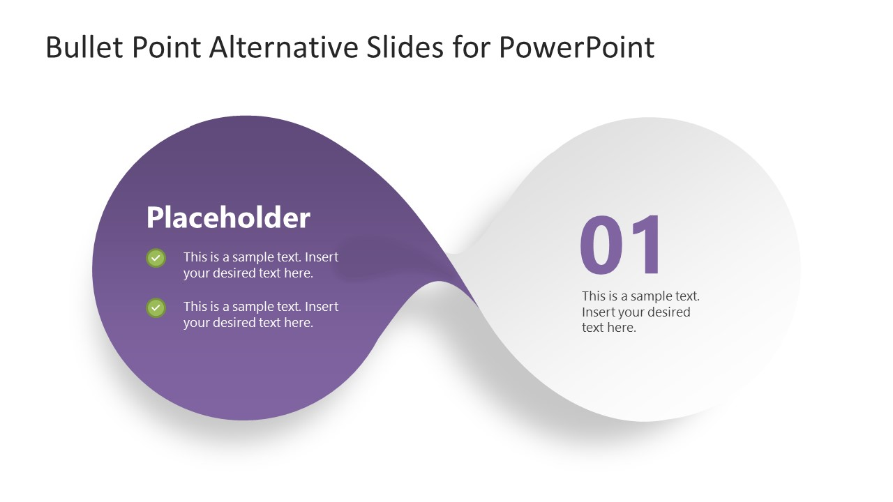 PowerPoint Bow-Shaped Diagram Step 1
