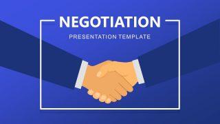 PowerPoint Scene Illustration Handshake Templates