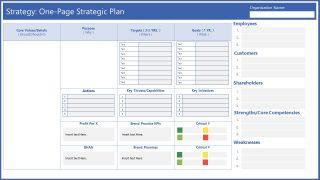 One Paye Strategy Plan Template