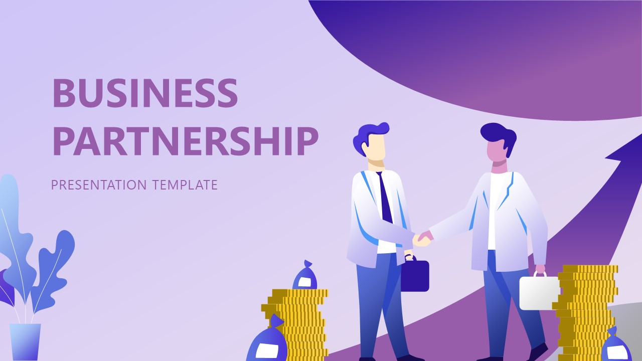 Graphics of Business Partnership Template